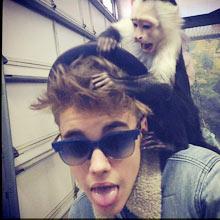 Justin Bieber and monkey on Instagram