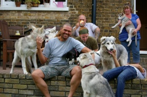 Shaun Ellis and pups &Ponies 246